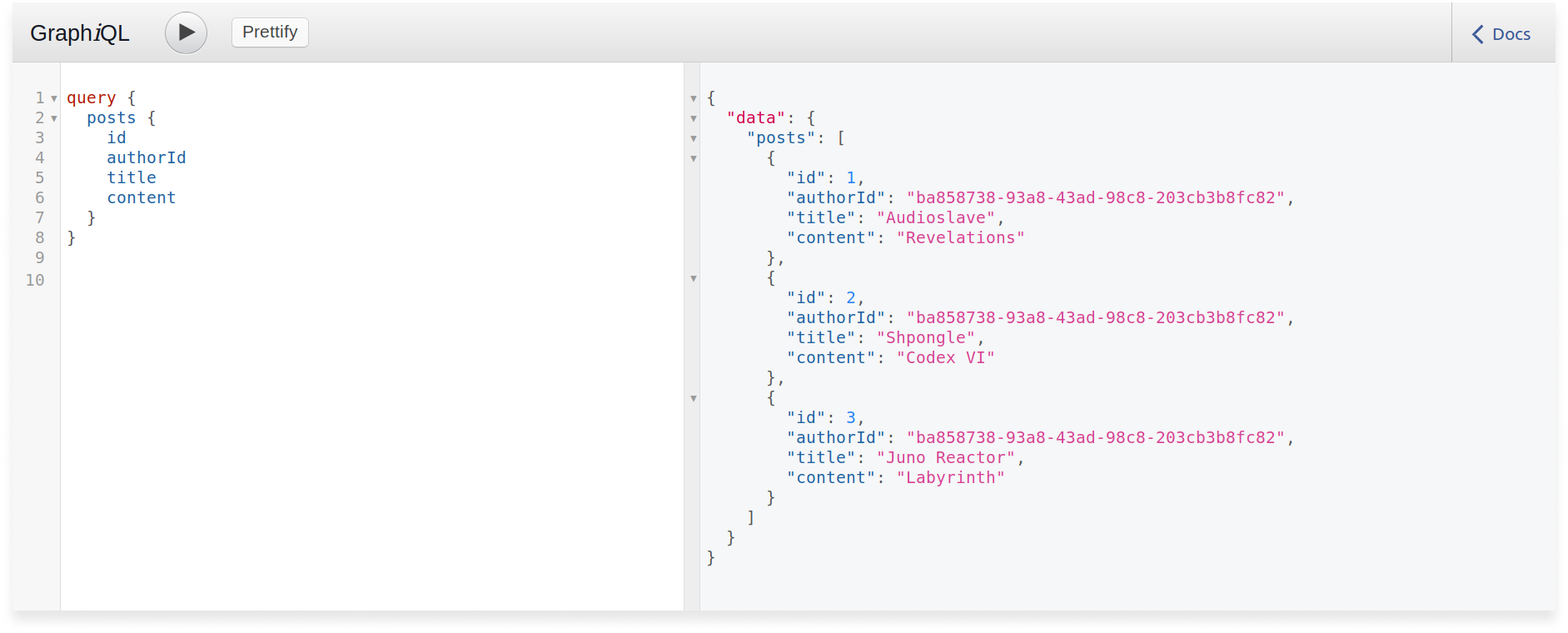 GraphQL query to get all posts in a Scala GraphQL application